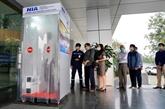 L'aéroport international de Nôi Bài met en service la chambre de désinfection