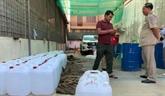 Le Cambodge a saisi 4.000 litres de méthanol pour faire de faux désinfectants
