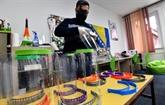 Les masques imprimés en 3D en Bosnie
