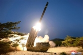 La RPDC effectue un tir d'essai de lance-roquettes multiple de très gros calibre