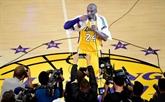 NBA : 33.000 USD pour une serviette utilisée par Kobe Bryant lors de son dernier match