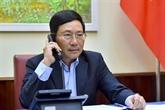 Pham Binh Minh et Motegi Toshimitsu discutent de la lutte anti-conoravirus