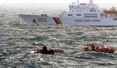 Cinq Vietnamiens portés disparus dans l'incendie d'un bateau de pêche près de Jeju