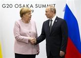Poutine et Merkel déclarent espérer le succès du prochain Sommet Russie - Turquie