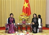 Une délégation du Groupe des femmes de la communauté de l'ASEAN reçue à Hanoï