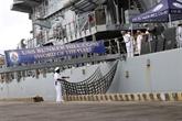 Des navires de la marine américaine en visite dans la ville de Dà Nang