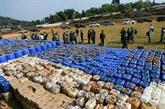 Une mer de meth, saisie record de drogues par l'armée birmane