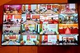 Quang Ninh : vidéoconférence sur les mesures d'urgence contre le COVID-19