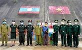Rencontre des gardes-frontière laotiens à l'occasion de la fête Bunpimay