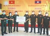 Le Commandement de la IVe Région militaire offre des matériels médicaux aux forces armées laotiennes