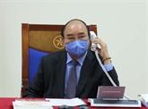 Le Premier ministre s'entretient par téléphone avec le président sud-coréen