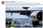Donald Trump remercie la coopération des