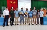 Cinq marins indonésiens secourus en mer sont rapatriés