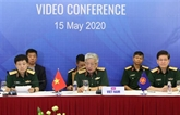 Ouverture de la téléconférence des hauts officiels de la défense de l'ASEAN