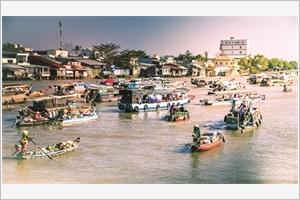 Les marchés flottants du delta du Mékong