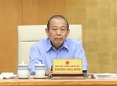 Truong Hoà Binh appelle à anéantir le trafic illégal et la fraude commerciale