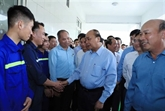 Le PM rencontre des travailleurs de la mine de charbon de Hà Lâm