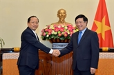 Le vice-Premier ministre Pham Binh Minh reçoit le nouvel ambassadeur du Cambodge