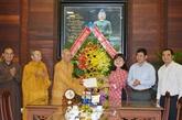 Vesak 2020 : félicitations à des établissements bouddhiques à Dak Lak et Vinh Long