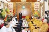 Vesak : le vice-Premier ministre Truong Hoà Binh présente ses vœux