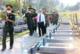 Thua Thiên-Huê : inhumation des restes de soldats tombés au Laos