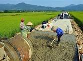 Dix districts de Hanoï cherchent à répondre aux normes de la Nouvelle ruralité