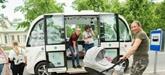 Bus autonomes à Tallinn pour touristes et hommes d'affaires
