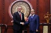 Le dirigeant de Hô Chi Minh-Ville reçoit l'ambassadeur des États-Unis au Vietnam