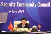 Discussions de mesures pour renforcer la coopération en matière de politique et de sécurité