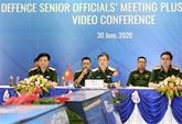 Réunion en ligne du groupe de travail des hauts responsables de la défense de l'ASEAN