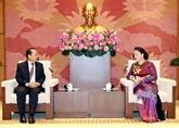 La présidente de l'AN reçoit le nouvel ambassadeur du Cambodge