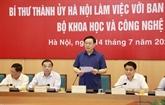Hanoï s'efforce d'être le premier centre scientifique et technologique en Asie du Sud-Est dans certains domaines