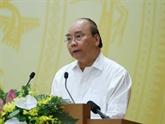 Le Premier ministre préside une réunion sur l'édification institutionnelle