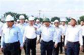 Le Premier ministre contrôle les travaux de construction de l'aéroport de Long Thành