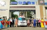 Présentation des fournitures médicales américaines à Hô Chi Minh-Ville