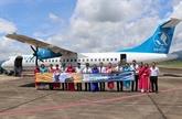 Ouverture de la nouvelle ligne aérienne Diên Biên - Hai Phong