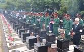 Binh Phuoc : inhumation des restes de dix soldats volontaires vietnamiens