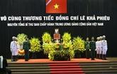 Cérémonie en hommage de l'ancien secrétaire général du Parti, Lê Kha Phiêu