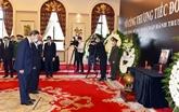 Les dirigeants chinois rendent hommage à l'ancien secrétaire général Lê Kha Phiêu