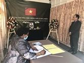 Hommage posthume à l'ancien secrétaire général Lê Kha Phiêu dans plusieurs pays