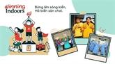 La campagne encourage les enfants à s'amuser à la maison