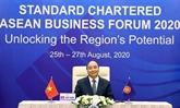 Le PM participe au forum d'affaires Standard Chartered ASEAN 2020