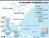 L'ouragan Laura aux vents ultra-violents s'approche de la Louisiane