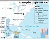 L'ouragan Laura aux vents ultra-violents s'approche de la Louisiane