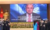 Fête nationale : le secrétaire général de l'ONU félicite le Vietnam