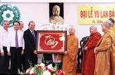 Fête Vu Lan : vœux à l'Église bouddhique du Vietnam