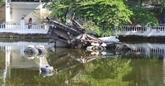 L'épave du bombardier B52 dans le lac Huu Tiêp, un souvenir de guerre