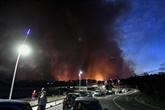 Incendie près de Marseille : 1.200 évacuations avant une nuit de lutte contre le feu