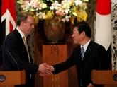 Le chef de la diplomatie japonaise à Londres pour négocier un accord post-Brexit