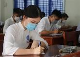 Examen de fin d'études secondaires commence en toute sécurité